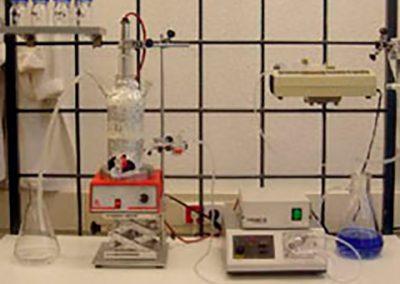 Instalación UV escala laboratorio