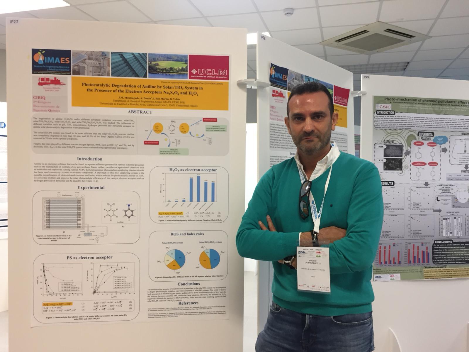 El profesor Durán, del grupo IMAES de la UCLM, asiste al 1º Congreso Iberoamericano de Ingeniería Química (Santander, 19-21 de Junio 2019)